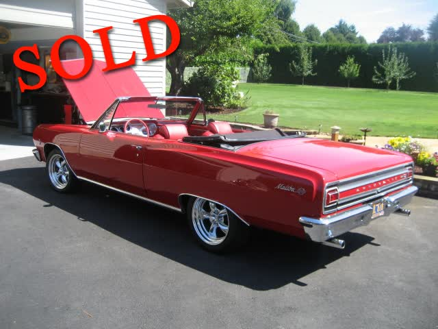 1965 Chevrolet Chevelle 4 Speed Malibu SS Convertible