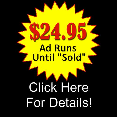 Advertise Your Vehicle Now For $24.95 and It Runs Until Sold